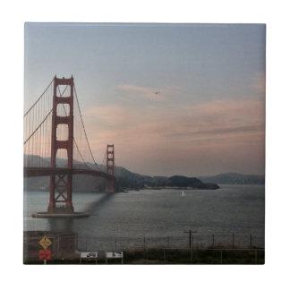 Tarde en puente Golden Gate Teja Cerámica