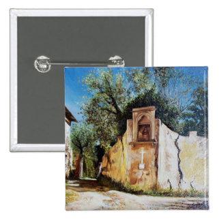 TARDE EN RIMAGGIO/la opinión de Toscana Pin Cuadrada 5 Cm