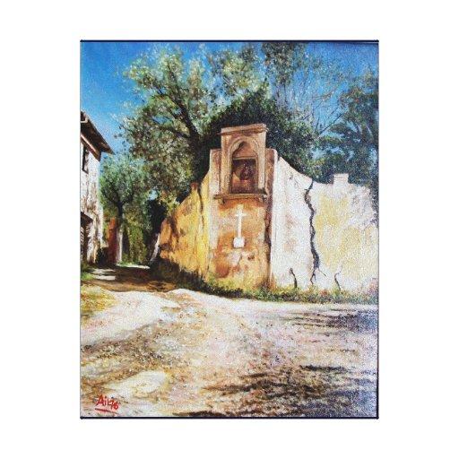 TARDE EN RIMAGGIO/la opinión de Toscana Lona Envuelta Para Galerías