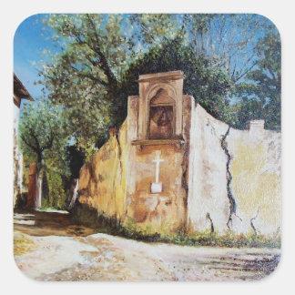 TARDE EN RIMAGGIO/la opinión de Toscana Pegatinas Cuadradas