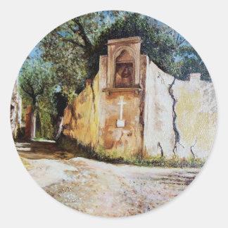TARDE EN RIMAGGIO/la opinión de Toscana Pegatinas Redondas