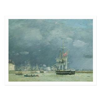 Tarde, Le Havre, 1866 (aceite en lona) Postal