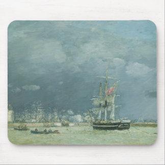Tarde, Le Havre, 1866 (aceite en lona) Alfombrilla De Ratones