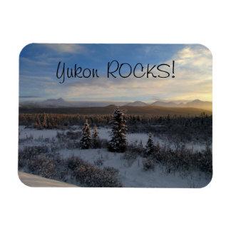 Tarde Nevado; Recuerdo del territorio del Yukón Imán Flexible