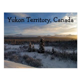 Tarde Nevado; Territorio del Yukón, Canadá Postal