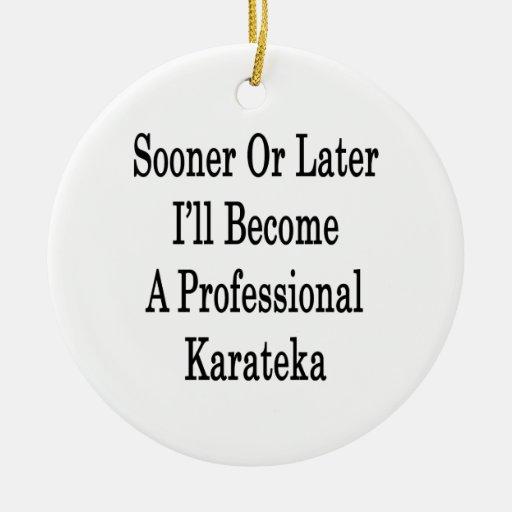 Tarde o temprano haré un Karatek profesional Adorno Redondo De Cerámica