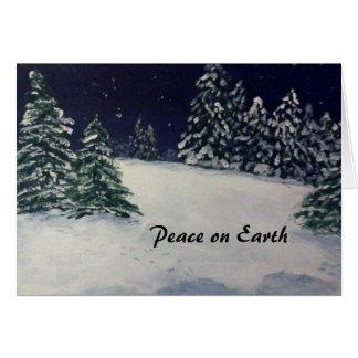 Tarde pacífica del invierno tarjeta pequeña