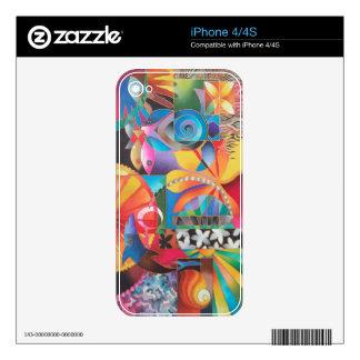 TARDE PACÍFICA iPhone 4 CALCOMANÍAS
