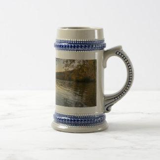 Tarde pacífica tazas de café