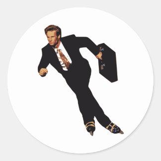 Tarde para el patinador Meme del Rollerblade del Etiqueta Redonda