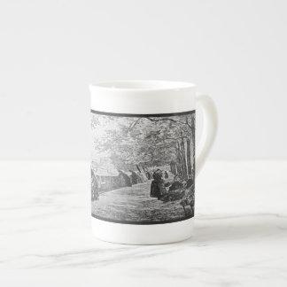 Tarde parisiense taza de porcelana