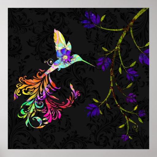 Tarde psicodélica, una impresión del colibrí impresiones