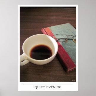 Tarde reservada - envíe el arte del café posters