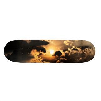 Tarde Sun con el cielo nublado Monopatines Personalizados