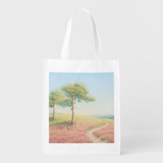 Tarde Sun, nuevo bolso reutilizable de los árboles Bolsa Para La Compra