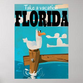 Tarde vacaciones - cartel del viaje del vintage de póster