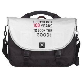 Tardó 100 años de diseños del cumpleaños bolsas para portátil