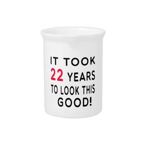 Tardó 22 años de diseños del cumpleaños jarra para bebida
