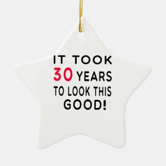 Tardó 30 años de diseños del cumpleaños ornamento para arbol de navidad