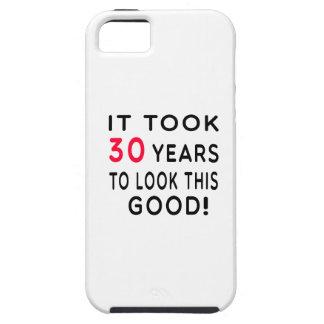 Tardó 30 años de diseños del cumpleaños funda para iPhone 5 tough