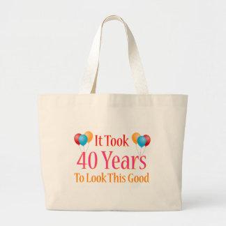 Tardó 40 años para mirar esto bueno bolsa de tela grande
