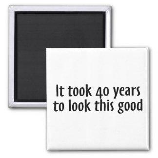 Tardó 40 años para mirar esto bueno imán cuadrado