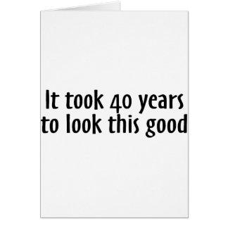 Tardó 40 años para mirar esto bueno tarjetón