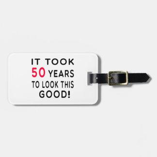 Tardó 50 años de diseños del cumpleaños etiquetas de equipaje