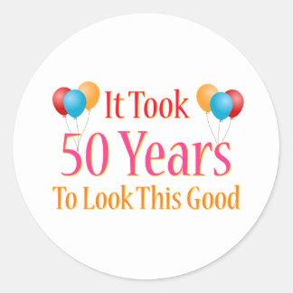 Tardó 50 años para mirar esto bueno pegatina redonda