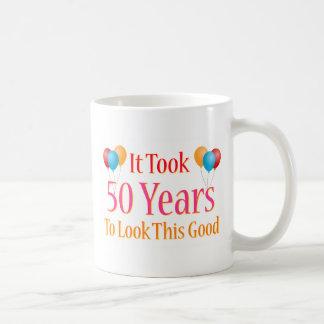 Tardó 50 años para mirar esto bueno taza básica blanca