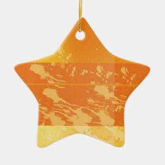 tarea de pintura adorno de cerámica en forma de estrella