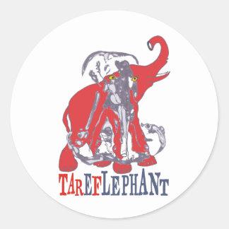 TarefLephant Classic Round Sticker