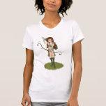 Taren el chica del duende del guerrero de Archer Camiseta