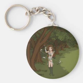 Taren the Archer Warrior Elf Girl Keychain