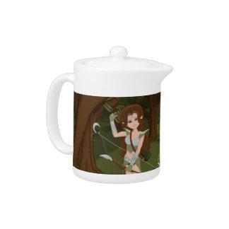 Taren the Archer Warrior Elf Girl Teapot