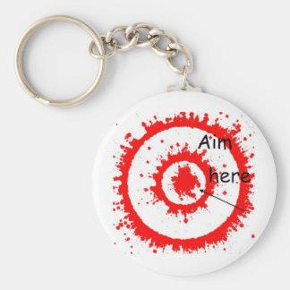 target aim basic round button keychain