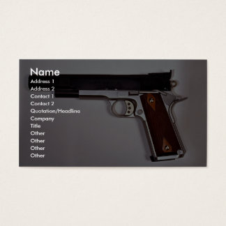 Target air pistol business card