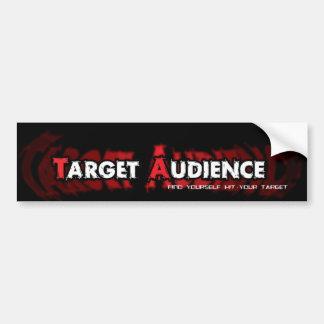 Target Audience logo stocker Bumper Sticker