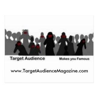 Target Audience Magazine Postcard
