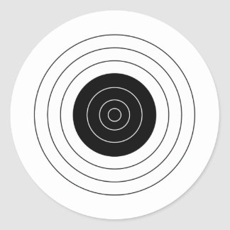 Target BullsEYE Classic Round Sticker