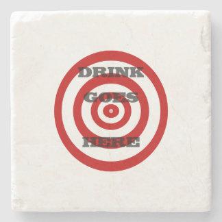 Target Bullseye Stone Beverage Coaster