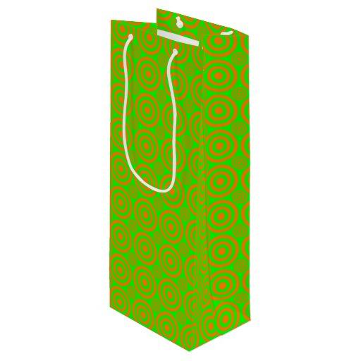 Wedding Gift Bags Target : Target Bullseye-WINE GIFT BAG-Orange-Neon Wine Gift Bag Zazzle