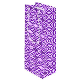 Target Bullseye-WINE GIFT BAG-Purple-White Wine Gift Bag