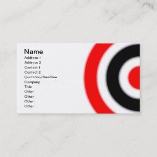 Archery target business cards zazzle target business card colourmoves