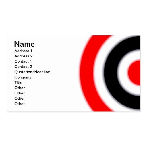 Target business card template zazzle for Target business cards