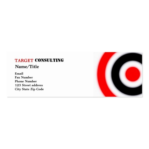 Target business cards zazzle for Target business cards