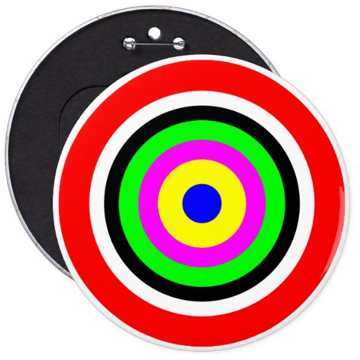 Target, colored circles button