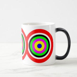Target, colored circles magic mug