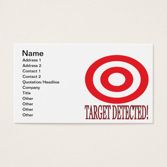 Target Detected Business Card