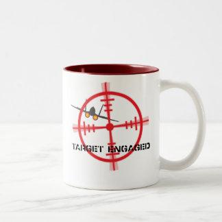 Target Engaged Flight Simulator Pilot Display Two-Tone Coffee Mug